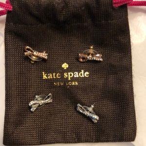 2 pairs Kate spade bow earrings